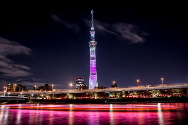 東京スカイツリーイルミネーション2019!開催期間と点灯時間は?